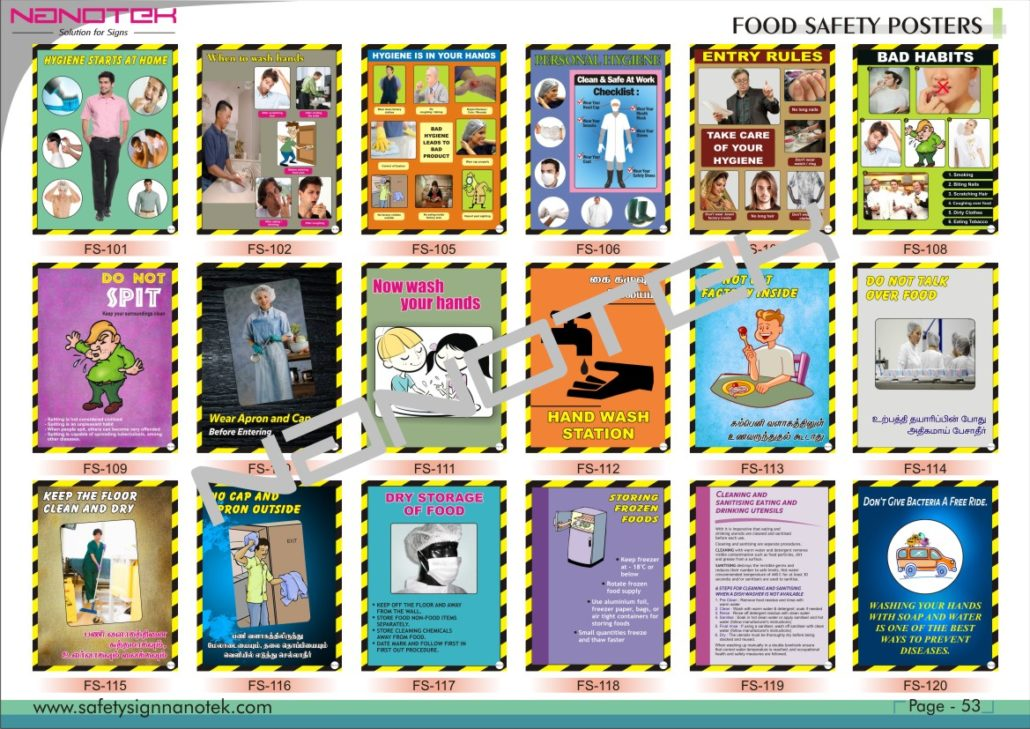 Food safety posters – Euro Industries